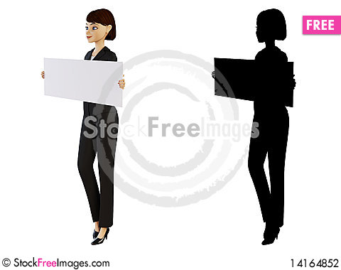 Free Businesswoman And White Panel Stock Photography - 14164852