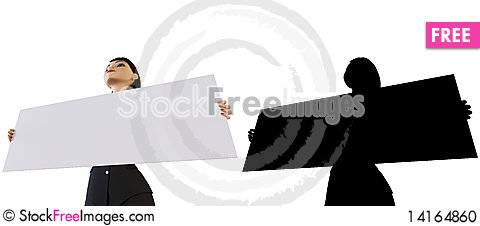 Free Businesswoman And White Panel Stock Photo - 14164860