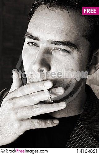 Free Smoking Male Stock Image - 14164861