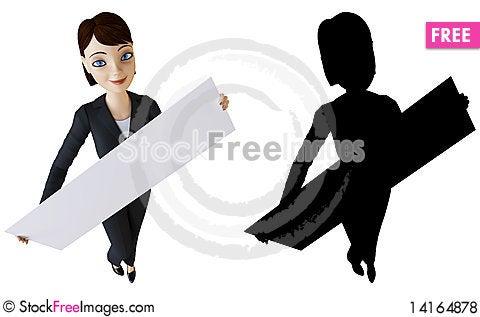 Free Businesswoman And White Panel Royalty Free Stock Photos - 14164878