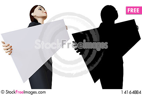 Free Businesswoman And White Panel Stock Images - 14164884