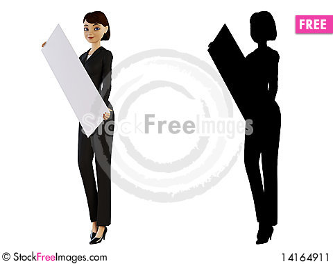 Free Businesswoman And White Panel Stock Image - 14164911