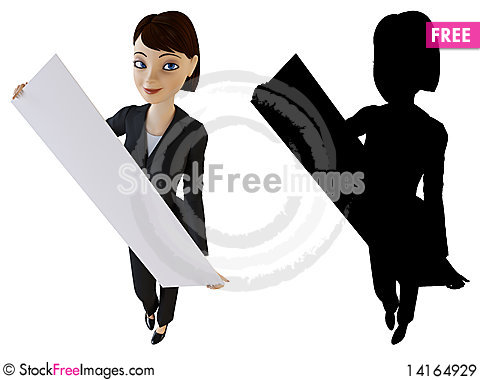 Free Businesswoman And White Panel Royalty Free Stock Images - 14164929