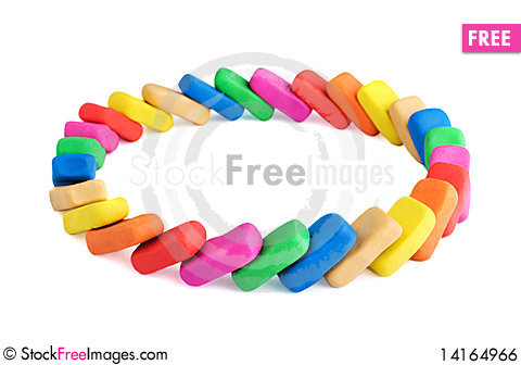 Free Circle Of Colorful Bricks. United Concept Royalty Free Stock Image - 14164966