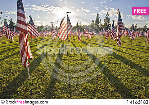 Free 1,100 3-foot-by-5-foot American Flags Stock Photos - 14165183