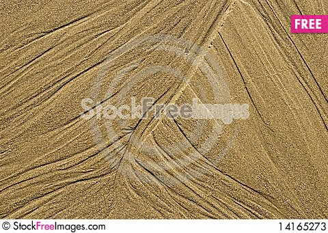 Free Pattern In The Sand By The Ocean Stock Photos - 14165273