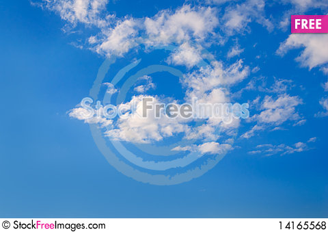 Free The Sky With Clouds. Royalty Free Stock Photos - 14165568