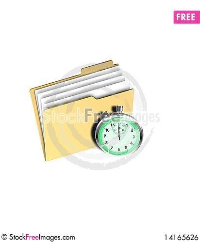 Free Folder Timer Royalty Free Stock Image - 14165626