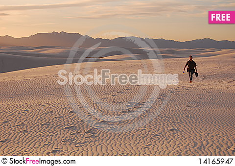 Free Distant Walker Royalty Free Stock Photography - 14165947