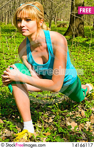 Free Exercises Royalty Free Stock Photography - 14166117