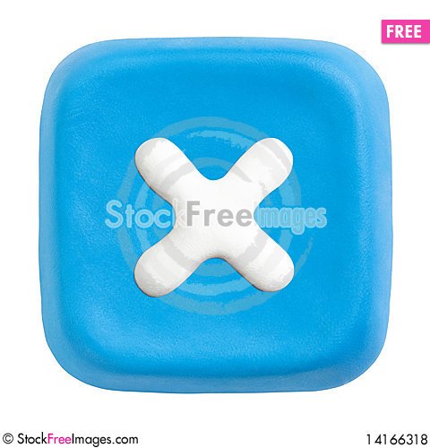 Free Blue Square Close Key. Clipping Paths Royalty Free Stock Photos - 14166318