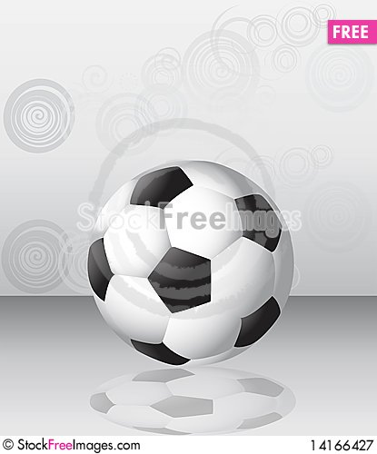 Free Single Football Ball Background Royalty Free Stock Photography - 14166427