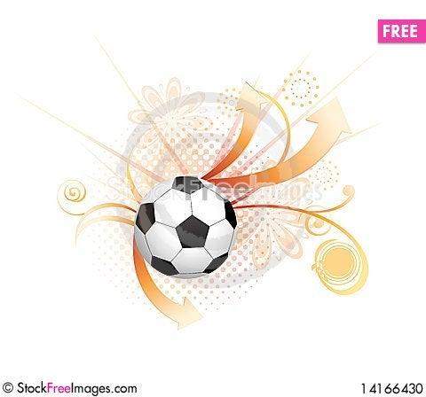 Free Abstract Football Creative Design Stock Photo - 14166430