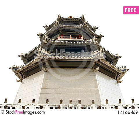 Free Pagoda. Traditional Chinese Temple Royalty Free Stock Images - 14166469