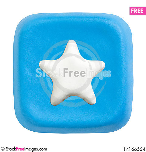 Free Blue Square Favourites Key. Clipping Paths Stock Images - 14166564