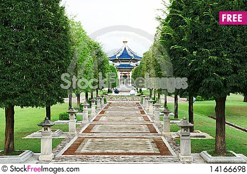 Free Pagoda. Traditional Chinese Temple Royalty Free Stock Photos - 14166698