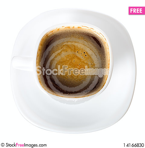 Free Cup Of Coffee With Skin View From Above Stock Photo - 14166830