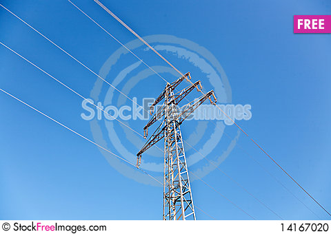 Free Electricity Tower In Beautiful Landscape Stock Photo - 14167020