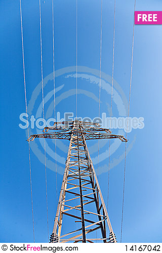 Free Electricity Tower In Beautiful Landscape Stock Photography - 14167042