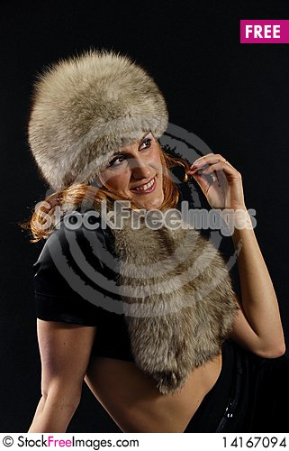 Free Portrait Of The Woman With The Fox Stock Images - 14167094