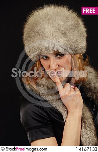 Free Portrait Of The Woman With The Fox Stock Photos - 14167133