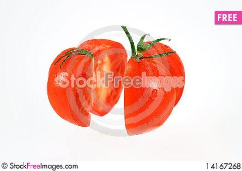 Free Fresh Sliced Tomato Royalty Free Stock Photos - 14167268