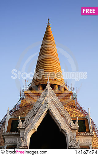 Free Front Of Stupa, Thailand Stock Images - 14167494
