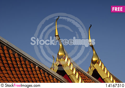 Free Two Gable Apexs And Sky Stock Photo - 14167510