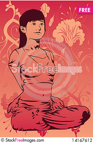 Free Yoga For A Slim And Trim Body Stock Photography - 14167612