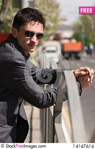 Free Young Adult European Man In Black Sunglasses Royalty Free Stock Image - 14167616