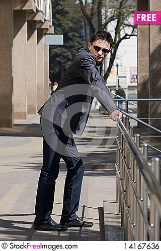 Free Young Adult Businessman In Jacket Royalty Free Stock Image - 14167636