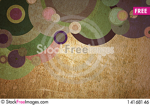 Free Grunge Circles On The Paper Royalty Free Stock Image - 14168146