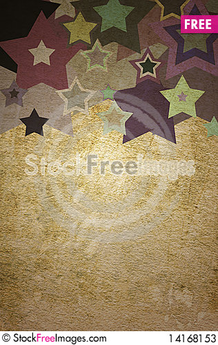 Free Star Grunge On The Paper Stock Photos - 14168153