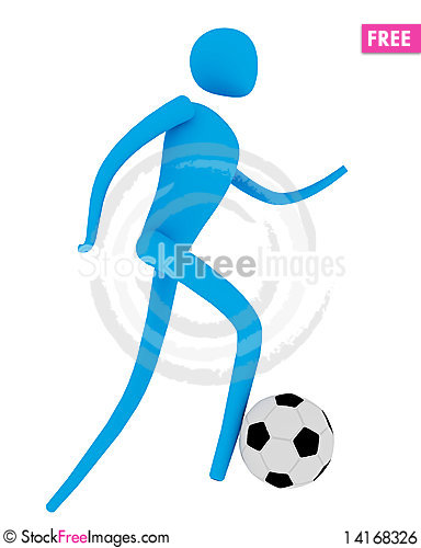 Free Soccer Player With Ball Royalty Free Stock Image - 14168326