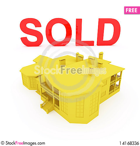 Free Sold House Royalty Free Stock Image - 14168336