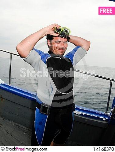 Free Male Scuba Diver Stock Photo - 14168370