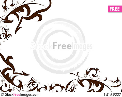 Free Flowers Decorative Ornament Royalty Free Stock Photography - 14169227