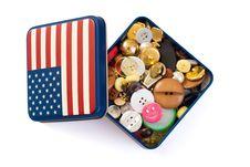 Free Button Box Royalty Free Stock Photos - 14160478