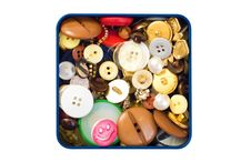 Button Box Stock Photos