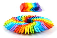 Origami Rainbow 3d Stock Images
