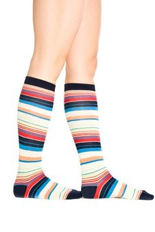 Oman Legs In Colorful Socks Stock Images