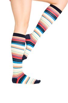 Oman Legs In Colorful Socks Stock Photos