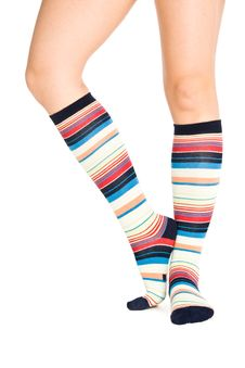 Oman Legs In Colorful Socks Royalty Free Stock Images