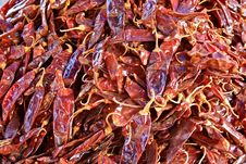 Free Dried Red Hot Chilli Peppers Royalty Free Stock Photography - 14161137