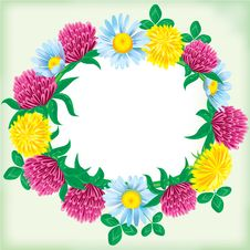 Free Wreath Of Flowers Stock Image - 14161371