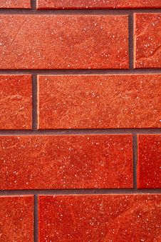 Dark Red Brick Tile Wall. Royalty Free Stock Photo
