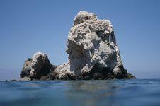 Free Low Angle Rock At Akamas Peninsula. Cyprus. Royalty Free Stock Photos - 14162478