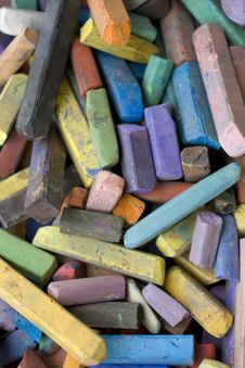 Free Colored Chalks Stock Photo - 14163470