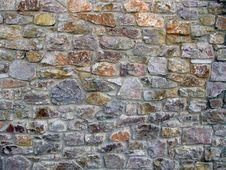 Free Multi Colour Stone Old Wall Fragment Royalty Free Stock Images - 14163909