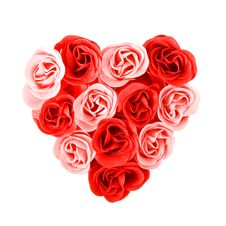 Heart Of Red And Pink Roses Royalty Free Stock Photography